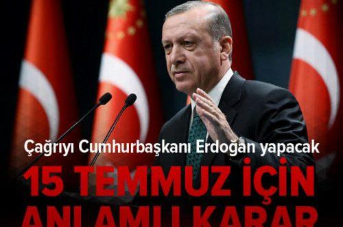 Kalın: Cumhurbaşkanı Erdoğan 15 Temmuz 'da nöbete çağıracak