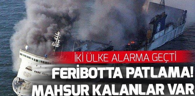 Baltık Denizi'nde feribotta yangın çıktı