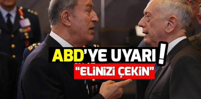 Türkiye'den ABD'ye YPG uyarısı!