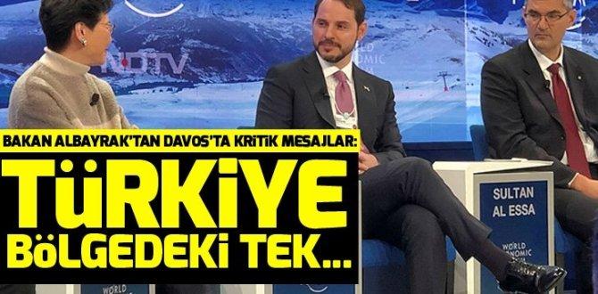 Son dakika: Bakan Berat Albayrak'tan Davos'ta flaş mesajl