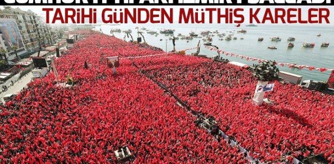 Cumhur İttifakı İzmir'i salladı! İzmirliler Gündoğdu Meydanı'nı hınca hınç doldurdu
