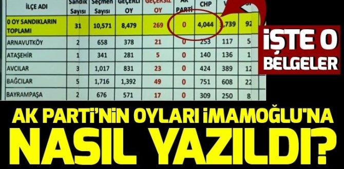 Ak Parti'nin oyları Ekrem İmamoğlu'na nasıl yazıldı? İşte usulsüzlüğün belgeleri!