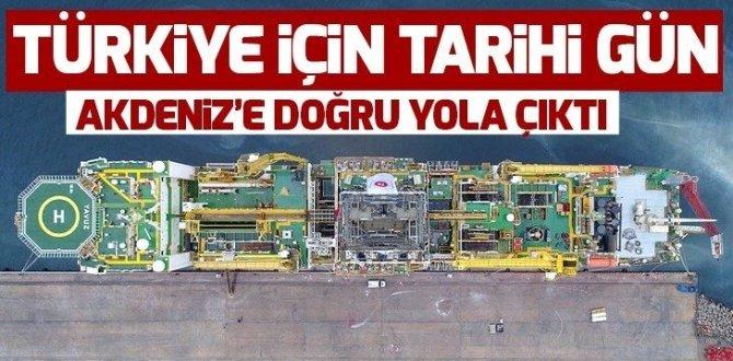 Türkiye'nin ikinci sondaj gemisi Yavuz Akdeniz'e uğurlandı