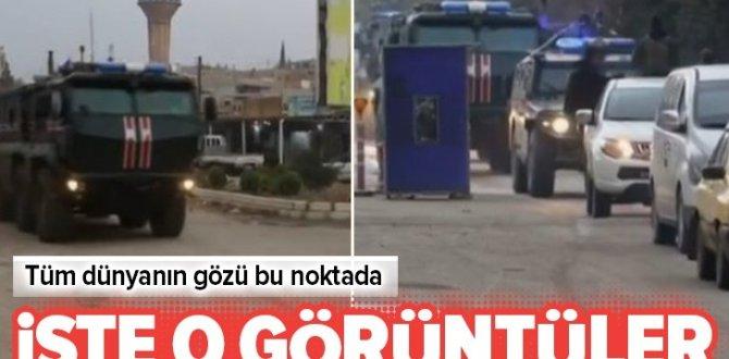 Kamışlı'dan yeni görüntü geldi! Rus askeri polisi devriye yapıyor .