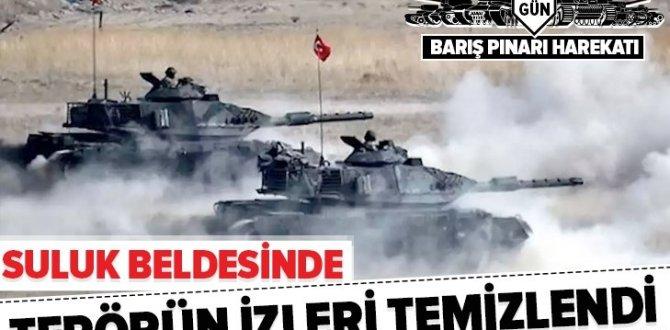 Barış Pınarı Harekatı'nda Tel Abyad ilçesinin Suluk beldesi terörden temizlendi.