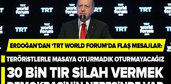"""Başkan Erdoğan'dan """"TRT World Forum 2019″da flaş açıklamalar ."""