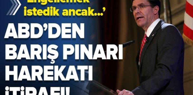 Mark Esper'den Barış Pınarı Harekatı itirafı .