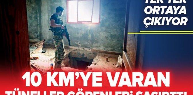 Terör örgütü PKK/YPG'nin Tel Abyad'da kazdığı tüneller tek tek ortaya çıkıyor! .
