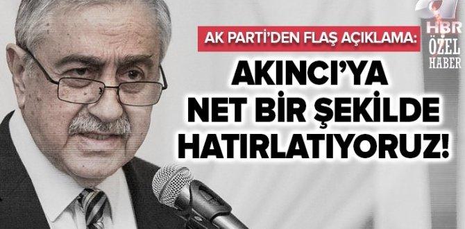 AK Parti'den Mustafa Akıncı'nın skandal 'Barış Pınarı' açıklamasına tepki: Şiddetle kınıyoruz