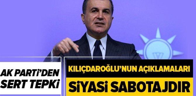AK Parti Sözcüsü Ömer Çelik'ten Kemal Kılıçdaroğlu'na sert tepki