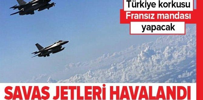 Fransa ve Yunanistan savaş jetlerini birlikte uçurdu