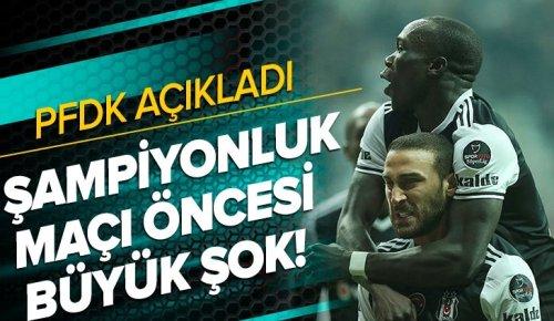 Beşiktaş'a iki şok birden! Cenk Tosun ve Aboubakar, PFDK'ya sevk edildi .