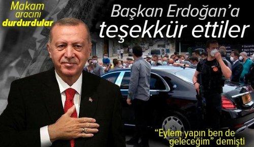 """Son dakika: Başkan Erdoğan'a Burhaniye Mahallesi sakinlerinden teşekkür! """"Eylem yapın ben de geleceğim"""" demişti"""