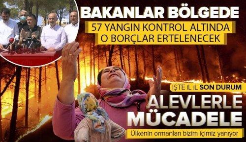 Antalya, Adana, Marmaris, Mersin, Muğla, Osmaniye ve Kayseri'deki orman yangınlarına müdahale ediliyor! Kahreden görüntüler