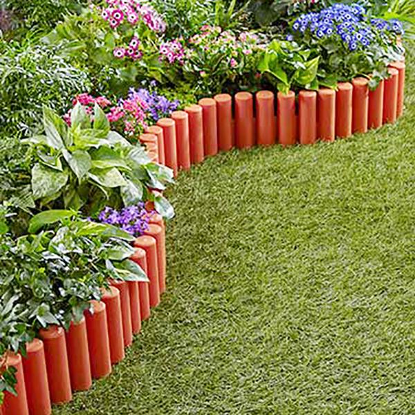 cerca de 27 5cm x 24cm decorativa para jardin de color marron de 4 piezas