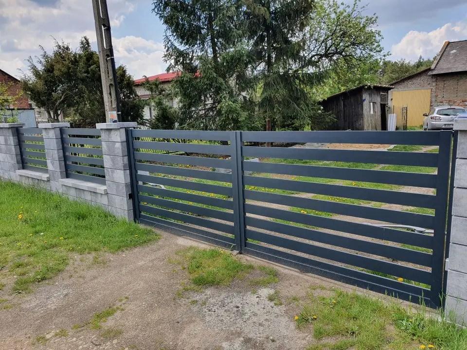 ALUgate ogrodzenie aluminiowe AG120 1