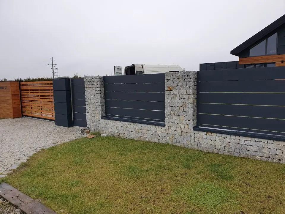 ALUgate ogrodzenie aluminiowe AG250 i CONFIGURE 4
