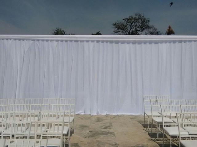 aluguel de tendas parede em cortinado