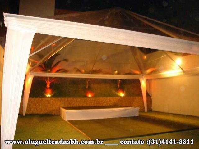 aluguel de tendas cristal decorada