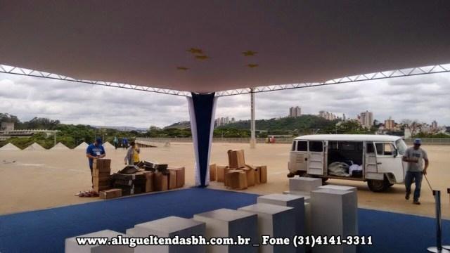 aluguel de tendas decoração no teto