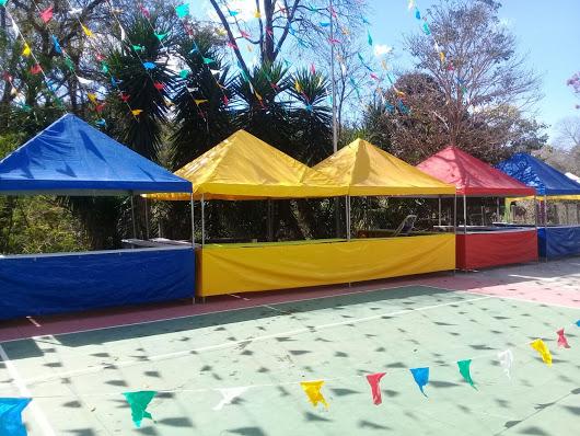 aluguel de tendas barraquinhas 2x2 e 3x3 coloridas