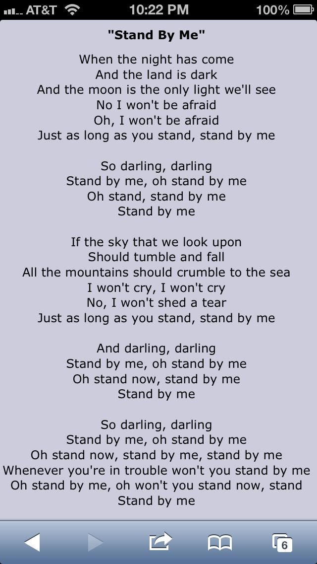 Parole Stand By Me : parole, stand, Paroles, Traduction, Chanson, «Stand, King,, Stand, Mariage
