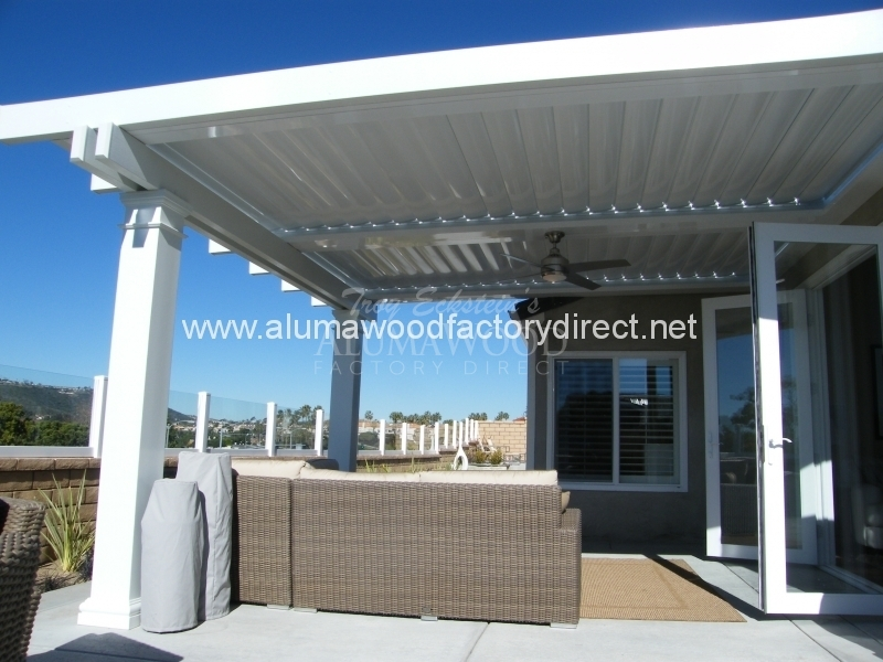 Equinox Louvered Roof system Patio Cover  Alumawood