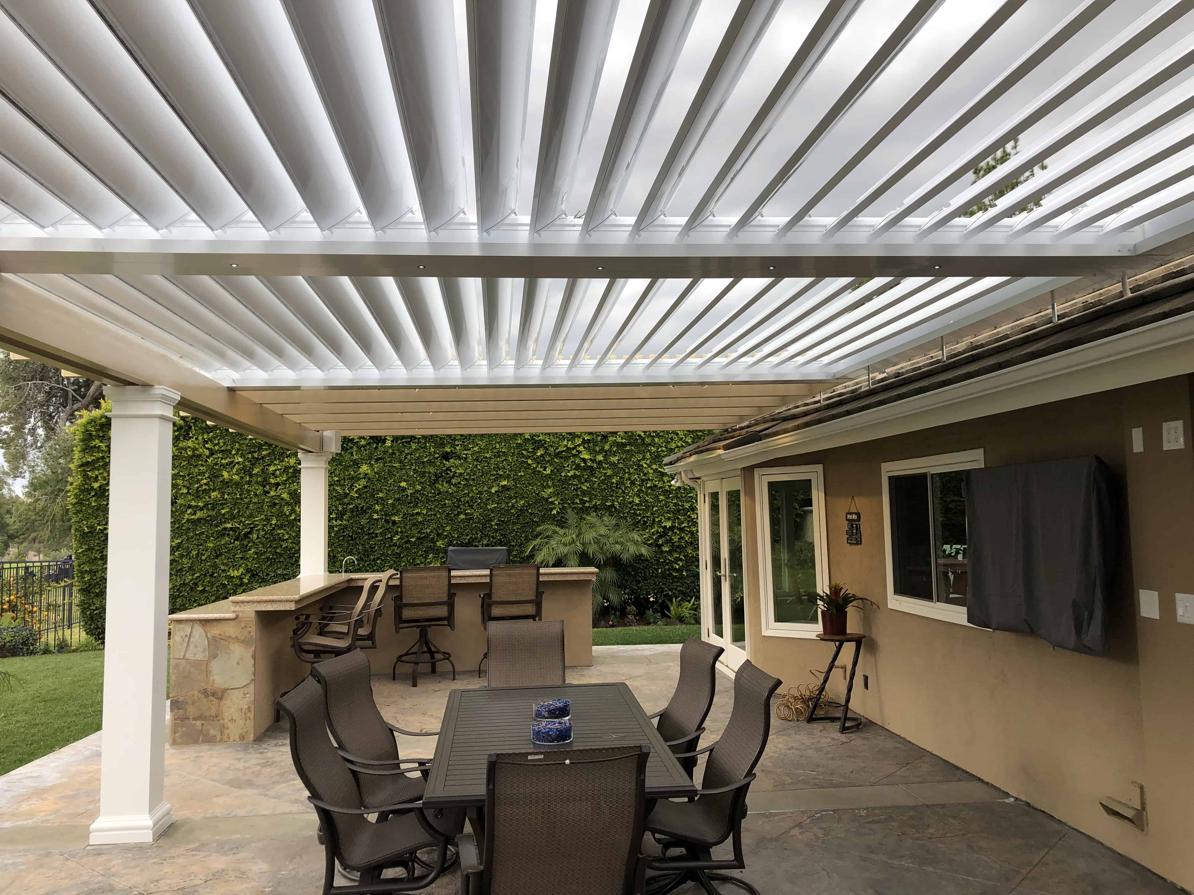 equinox louvered roof system patio