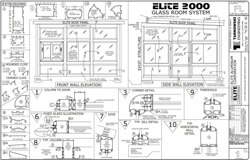 medium resolution of refer to elite 2000 detail sheet