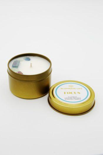 Aluminate Life Focus Candle Tin
