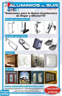 herrajes y accesorios para vidrio