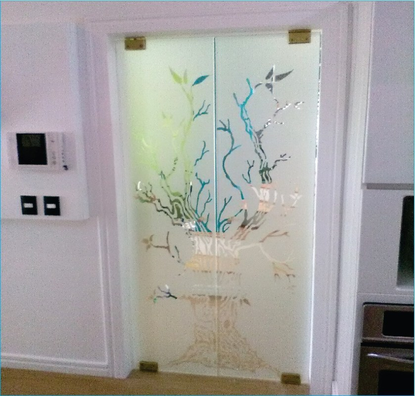 vidrios arenados con diseños