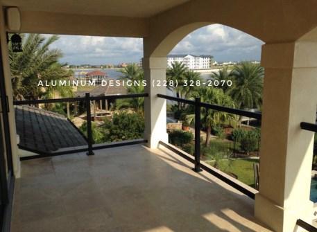 Aluminum and Glass handrail