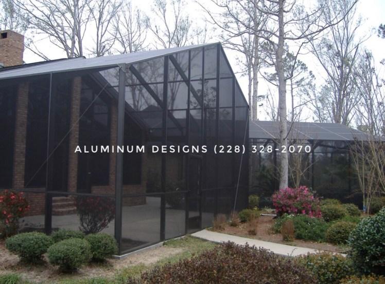 swimming pool enclosure built by aluminum designs