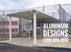 walkway cover built by aluminum patio contractor Aluminum Designs