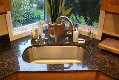 حوض المطبخ بزاوية فى المطبخ الكورنال او الركنة