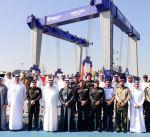 """وزارة الدفاع تتسلم قطعة بحرية عسكرية من شركة """"أبوظبي لبناء السفن"""""""