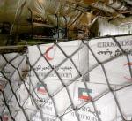 الهلال الأحمر يسير طائرة إغاثة بحمولة 10 أطنان مواد غذائية إلى ليبيا