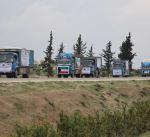 """""""الرحمة العالمية"""" تسير سبع شاحنات مساعدات إلى """"خان شيخون"""" السورية"""