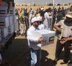 """""""الهلال الاحمر الكويتي"""" تقدم 1500 سلة غذائية لنازحين عراقيين بمخيم """"الخازر"""""""