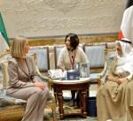 سمو الأمير يستقبل الممثلة العليا للسياسة الخارجية والامنية في الاتحاد الأوروبي