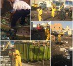 البلدية: ضبط العمالة التي تقوم بفرز الفواكة الغير صالحة ومخالفتهم