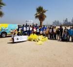"""""""الغوص"""" يشارك في الحملة العالمية لتنظيف الشواطئ بمشاركة المجتمع المدني والمتطوعين"""