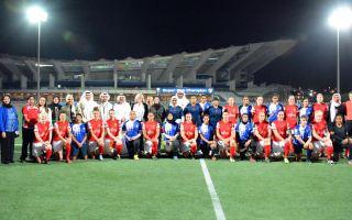 """""""العسكري البريطاني"""" لكرة قدم السيدات يتغلب على المنتخب الكويتي"""