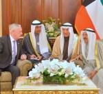 سمو الأمير يستقبل وزير الدفاع الأمريكي بمناسبة زيارته للبلاد
