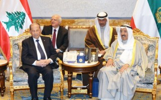سمو الأمير والرئيس اللبناني يترأسان المباحثات الرسمية بين الجانبين