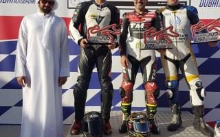 """متسابق كويتي يحقق المركز الثاني في بطولة """"امارات سوبر بايك"""" للدراجات النارية"""