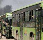 """التلفزيون السوري: خروج الدفعة الثانية من مسلحي """"فيلق الرحمن"""" و""""جبهة النصرة"""""""