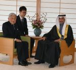 إمبراطور اليابان يستقبل الغانم