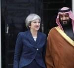 محمد بن سلمان وتيريزا ماي يبحثان مستجدات الأوضاع بالمنطقة